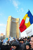 Bucharest Protest - University Square 10 Royalty Free Stock Photography
