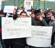 Bucharest Protest - University Square 12 Royalty Free Stock Photo
