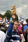 Bucharest-Protestanten vor dem Governement Stockfoto
