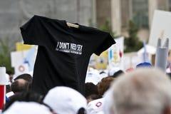 Bucharest-Protestanten vor dem Governement Lizenzfreies Stockfoto