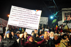 Bucharest protester - 19 januari 2012 - 11 Arkivbild
