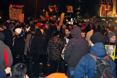 Bucharest Protests - 19 january 2012 -1  Stock Image
