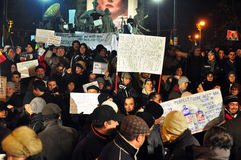 Bucharest Protests - 19 january 2012 - 18 Stock Image