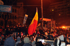 Bucharest Protests - 19 january 2012 - 3. 19 january 2012 - Thousands of people were protesting against current president Traian Basescu and his government in Stock Photography