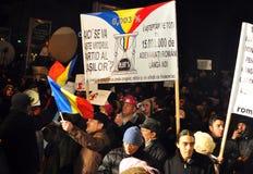 Bucharest Protesty 10 - 19 Styczeń 2012 - Obraz Royalty Free