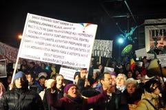Bucharest Protesty 11 - 19 Styczeń 2012 - Fotografia Stock