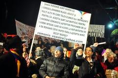Bucharest Protesty 12 - 19 Styczeń 2012 - Zdjęcie Royalty Free