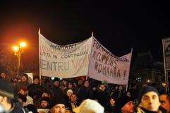 Bucharest Protesty 13 - 19 Styczeń 2012 - Obrazy Stock