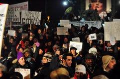 Bucharest Protesty 14 - 19 Styczeń 2012 - Zdjęcie Stock