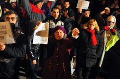 Bucharest Protesty 15 - 19 Styczeń 2012 - obrazy royalty free