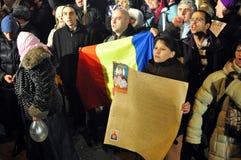 Bucharest Protesty 9 - 19 Styczeń 2012 - Obrazy Royalty Free