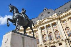 Bucharest środkowa Biblioteka Uniwersytecka Zdjęcia Royalty Free