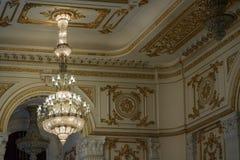 BUCHAREST/ROMANIA - 9月21日:宫殿o的内部看法 免版税库存图片