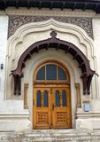Bucharest, Romania: Antim Monastery - library entrance. Entrance to the library of the Antim Monastery in Bucharest, Romania with characteristic features of Royalty Free Stock Photo