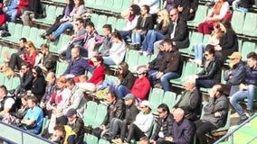BUCHAREST,ROMANIA-APRIL 2015.BRD Nastase Tiriac Trophy 2015 professional tennis tournament.Crowd at a tennis match 4K with audio stock video