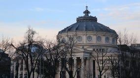 Bucharest, Romania Atheneum stock footage