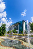 BUCHAREST, ROMANIA - AUGUST 30 , 2015: The National Library Stock Photo
