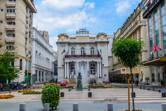 BUCHAREST, ROMANIA - AUGUST 30, 2015: The Odeon Theater Royalty Free Stock Photography