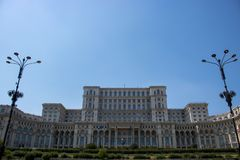 The Palace of the Parliament. royalty free stock photography