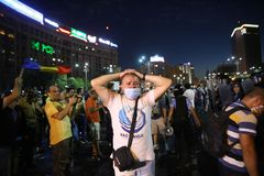 Hundreds injured in Romania protests Stock Photography