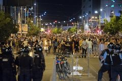 Romanians living abroad protesting against the government, Bucharest, Romania - 10 Aug 2018 stock photos