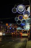 Bucharest, Romania, Christmas lights Stock Photography