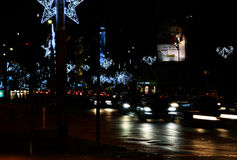 Bucharest, Romania, Christmas lights Royalty Free Stock Photography