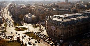 Bucharest Romania: cityscape, Piata Universitatii and university Stock Images