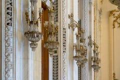 BUCHAREST/ROMANIA - 21 DE SEPTIEMBRE: Vista interior del palacio o fotos de archivo