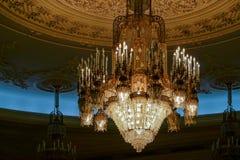 BUCHAREST/ROMANIA - 21 DE SEPTIEMBRE: Vista interior del palacio o foto de archivo libre de regalías