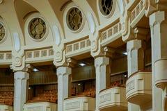 BUCHAREST/ROMANIA - 21 DE SEPTIEMBRE: Vista interior del palacio o foto de archivo
