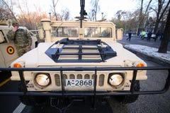 Humvee military vehicle. BUCHAREST, ROMANIA - December 1, 2018: Humvee military vehicle from the Romanian army at Romanian National Day military parade stock photos