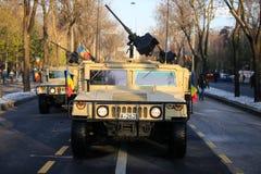 Humvee military vehicle. BUCHAREST, ROMANIA - December 1, 2018: Humvee military vehicle from the Romanian army at Romanian National Day military parade royalty free stock photo