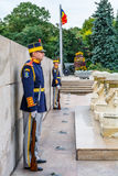Bucharest, Romania - December 20, 2015: National Guardsmen royalty free stock photo