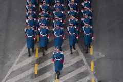 Military parade celebrating Romania`s National Day royalty free stock photos