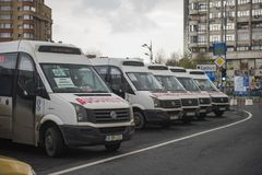 Romanian taxi drivers protest Royalty Free Stock Image