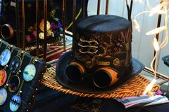 Steampunk hat stock photo