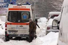BUCHAREST ROMANIA - February 14: Weather anomalies Stock Image