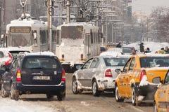 BUCHAREST ROMANIA - February 14: Weather anomalies Royalty Free Stock Photography