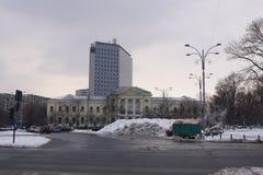 Heavy snow in Bucharest Royalty Free Stock Photo