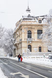 Bucharest, Romania - January 17: Calea Victoriei Street on Janua Stock Photo