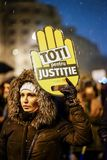 All for justice protest in Bucharest, Romania Stock Images