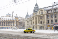 Bucharest, Romania - January 17: University Square on January 17 Stock Photography