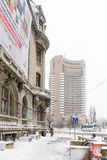Bucharest, Romania - January 17: University Square on January 17 Royalty Free Stock Image