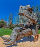 Statue of romanian writter Ioan Luca Caragiale Stock Images