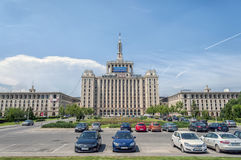 BUCHAREST, ROMANIA - June 21: The House of the Free Press on Jun Royalty Free Stock Photography