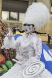 Bucharest, Romania - June 1, 2014: Mademoiselle Paillette French company presents `The TOYS` show. Inside of International Festival of Street Theater, `B-FIT in Stock Image