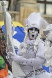 Bucharest, Romania - June 1, 2014: Mademoiselle Paillette French company presents `The TOYS` show. Inside of International Festival of Street Theater, `B-FIT in Stock Photo