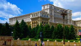 BUCHAREST, ROMANIA -  June 2015,Romanian Parliament or People's House stock video footage