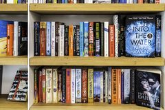 Wide Variety Of Books For Sale In Library Book Store royalty free stock photography